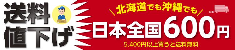 送料値下げ 日本全国600円